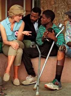 Lovely Princess Diana was a champion of the underdog. She frequently spent time with those in need.