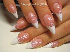 Not a fan of pointy nails but do like the swirls