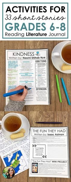 Short stories and poems for middle school | Reading literature journal for grades 6-8 | Activities and lessons for a variety of texts | Bloom's Taxonomy | Projects | Writing activities | Sixth grade, seventh grade, eighth grade