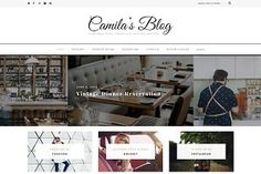 Camila - WordPress Blog Theme with minimalistic and feminine design. One of my favourite Wordpress themes!
