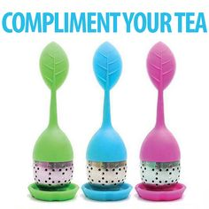 Benefits & Features  Fits any size tea cup 100% Food grade Silicone and Stainless Steel Tea Strainer. Comes with a Silicone base and stands upright when not in use. Infuses your tea perfectly each and every time. Makes your detox super easy. Re-use Tea leaves over and over. Enables you to reuse tea leaves and save money.
