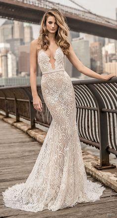 Spaghetti Strap Fit and Flare Wedding Dress | Berta Spring 2018 Wedding Dresses