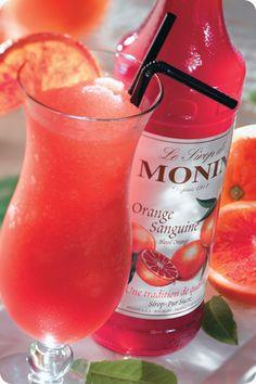 Monin Blood Orange Syrup Spritzers