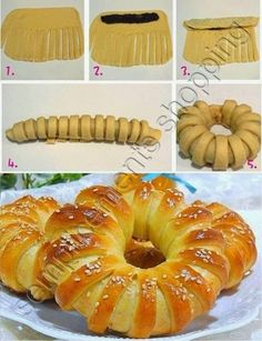 Brioche bread filled with jam Bread And Pastries, Art Du Pain, Bread Recipes, Cooking Recipes, Bread Art, Bread Shaping, Food Decoration, Sweet Bread, Creative Food