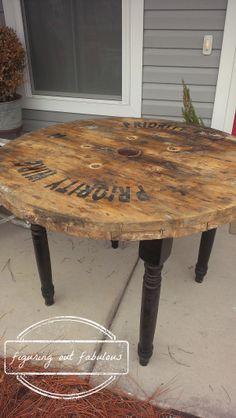 spool table black legs