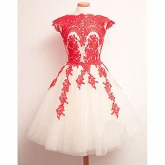 Dresses Length:Above Knee Neckline:Round neck Sleeve Length:Sleeveless Sleeve Style:Standard Pattern:Pure Color Material:Lace Color:Red,Blue Size:S,M,L,XL