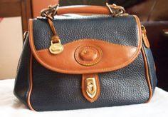 214c6fa4ea AWL Blue Leather possibly Faux Dooney and Bourke Vintage Purse Handbag