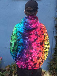 Tie Dye Zip Up Hoodie Sweatshirt Rainbow Galaxy