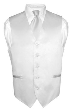 Men's Silver Gray Tie Dress Vest and Necktie Set for Suit or Tuxedo | eBay