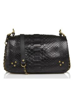 Sac Bobi Python Noir by JEROME DREYFUSS