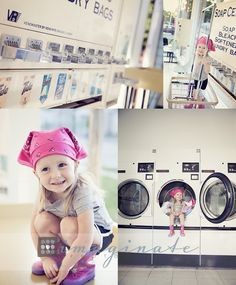 3 Year Old Avery, Laundry Mat Photo Shoot | Bloomington-Normal Lifestyle Photography ©Imaginate Photography