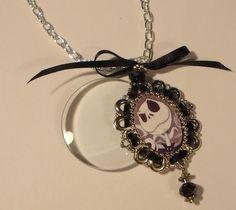 Jack The Pumpkin King Magnifying Glass Charm Necklace | Jenstardesigns - Jewelry on ArtFire
