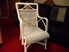 We love this stylish little 1920's cane chair - can imagine Jay Gatsby reclining in it at an afternoon cocktail party!