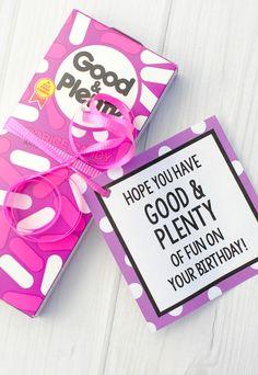Good and Plenty Birthday Tag