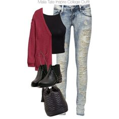 """Teen Wolf - Malia Tate Inspire College Outfit"" by staystronng on Polyvore"