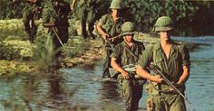 US Marines landing at Khe Sanh military airbase near the North-South Vietnamese border