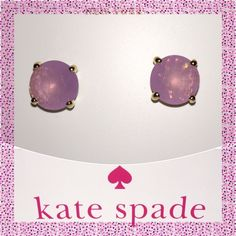 TAKE 25% OFF Kate Spade Lilac Bliss Earrings ✨  SPRING COLLECTION Kate Spade ♠️ Lilac Bliss Gumdrop Earrings NWTs • Includes dust bag • smoke free home • 20% donated to the American Cancer Society • IF INTERESTED LET ME KNOW & I WILL MAKE YOU A NEW LISTING AS I HAVE 2 • Thanks & Happy Poshing! ✨ kate spade Jewelry Earrings