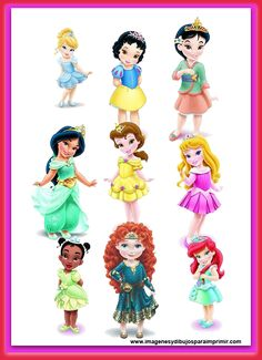 Laminas princesas disney bebes para imprimir