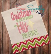 Christmas Presence Sew Sweetly October Gold Thread Design Downloads - The Applique Circle