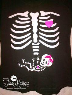 Custom Maternity Baby Skull tee tshirts by itemsbyTinaMarie, $23.50