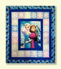 Longarm Quilting on Disney's Frozen Quilt Panel - Edge To Edge Quilting, Inc.