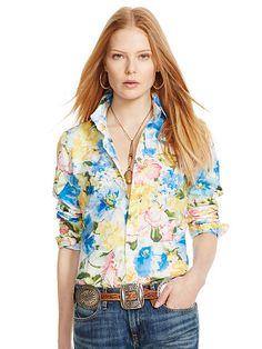 ... Polo Ralph Lauren Custom-Fit Floral Shirt - Polo Ralph Lauren Shop All - Ralph ...