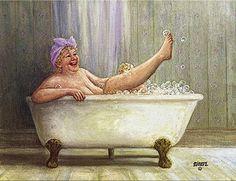 illustration of dianne dengel Plus Size Art, Illustration Art, Illustrations, Fat Art, Old Folks, Belle Photo, Old Women, Art For Sale, Bubbles