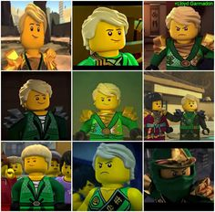 I think it would be better if each of these images were in order.. Bottom left one is first, middle right one is last, just to see how much he's changed over the time span of the show.
