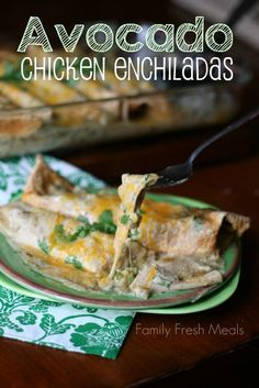 Mexican food is always a hit in my household. My family love these Avocado Chicken Enchiladas recipe. I can easily make them vegetarian for my husband too!