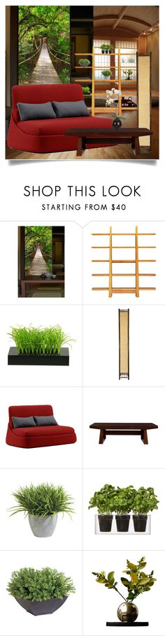 """Living in Kyoto"" by christinekate ❤ liked on Polyvore featuring interior, interiors, interior design, Zuhause, home decor, interior decorating, WallPops, Greenington, Coalesse und Wildon Home"
