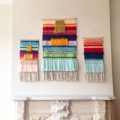 Woven wall hangings weaving tapestry by Maryanne Moodie                                                                                                                                                      Mais