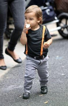 I will totally have my kid rock this suspenders style! Ha