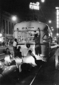 """Las """"moscas"""" en el tranvía del D.F."""