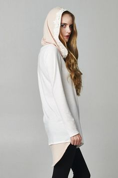 So Purrrrdy Lace Trimmed Hoodie