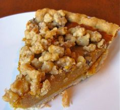 Pumpkin Recipes   Pumpkin Streusel Pie Recipe