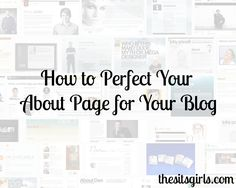 An About Me page is the top most visited page on your blog. It's your chance to briefly tell your story. Learn how to make a fab About Me page now!