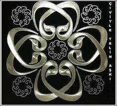Thread Art, Thread Painting, Arabic Calligraphy Art, Caligraphy, Stencil Patterns, Gold Work, Ribbon Embroidery, Geometric Art, String Art