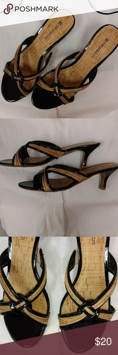 """Heels High heels never worn no tags, cut brown with cork like material.  Short 2"""" inch heel. Naturalizer Shoes Heels"""
