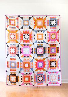 Nova Star Quilt - the Ruby Star Society one – Then Came June Star Quilt Patterns, Star Quilts, Quilt Blocks, Print Patterns, Star Blocks, Block Patterns, Quilt Kits, Canvas Patterns, Pattern Blocks