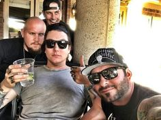 Synyster Gates and M Shadows