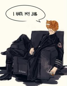 Love the cartoons is Millicent with Hux lol