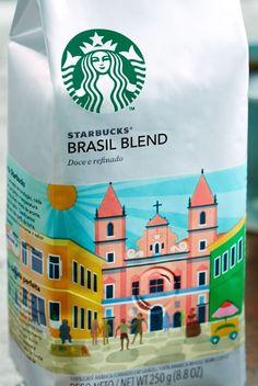 RARE Starbucks Brasil / Brazil Blend Whole Bean Coffee 250g (8.8 oz) Bag #Starbucks