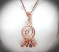 35b03ac32361 Wirewrapped jewelry. Wirewrapped copper charm holder Joyas Envueltas En  Alambre