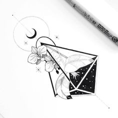 """""""Night orchids"""" by Unique Drawings, Cool Drawings, Tattoo Sketches, Tattoo Drawings, Tattoo Studio, Stylo Art, Line Art, Black And White Illustration, Ink Illustrations"""