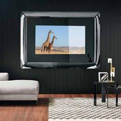 Caadre Tv design Philippe Starck by Fiam Italia  #Fiam #FiamItalia #culturadelvetro #madeinitaly #furniture #design #PhilippeStarck #CaadreTV #mirror