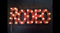 RODEO Western Lighted Marquee Sign made of by TheRusticBarnAZ