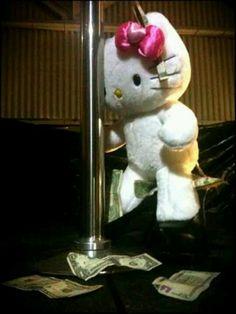 Hello kitty as stripper