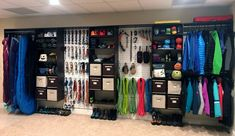 Camping & Climbing Gear Wall This and gear wall has it going on! No station is complete without some Thanks for the great photo Jim!This and gear wall has it going on! No station is complete without some Thanks for the great photo Jim!
