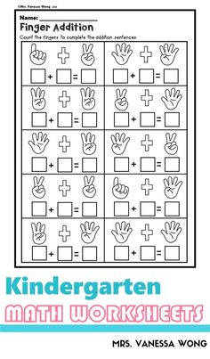 Download free printables at preview. The packet is full of engaging worksheets of picture addition activities (up to 10). It is perfect for kindergarten math centers, homework and distance learning. #kindergartenmath #kindergartenworksheets #additionworksheets Kindergarten Addition Worksheets, 1st Grade Math Worksheets, Homeschool Kindergarten, Preschool Math, Kindergarten Worksheets, Addition Activities, Math For Kids, Math Centers, Free Printables