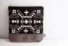 Navajo Printed Leather-Suede Pouch by Corium $52.00